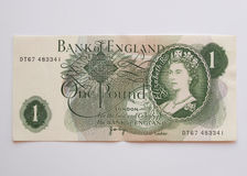 Uma nota de Sterling Pound, cerca de 1970 Imagens de Stock