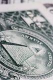 Uma nota do dólar Fotos de Stock Royalty Free