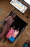Uma oficina do metal, Uganda foto de stock