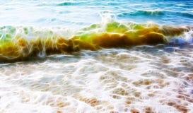 Uma onda da cor verde delicada com areia amarela para dentro Vagabundos do Fractal ilustração stock