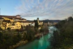 Uma opinião Cividale del Friuli, Itália imagem de stock