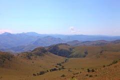Uma opinião da paisagem das montanhas de Suazilândia Imagens de Stock