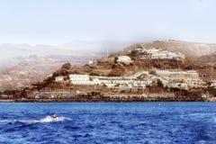 Uma opinião da paisagem de montanhas vulcânicas em Gran Canaria imagem de stock