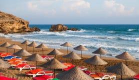 Praia de Sun do mar fotos de stock