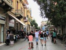 Uma opinião da rua em Nicosia, Chipre imagem de stock royalty free