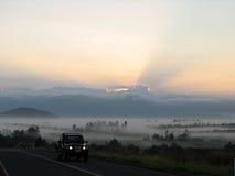 Uma opinião do lanscape do nascer do sol em Austrália Imagens de Stock