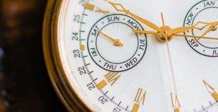 Uma opinião do macro do relógio Imagem de Stock