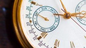 Uma opinião do macro do relógio Imagem de Stock Royalty Free