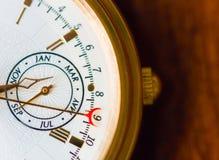 Uma opinião do macro do relógio Foto de Stock