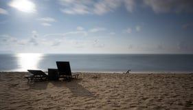 Uma opinião do seascape durante a manhã Imagens de Stock Royalty Free
