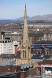 Uma opinião do telhado sobre Glasgow central, Escócia, Reino Unido fotografia de stock