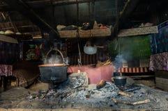 Uma opinião tradicional do interior de Sheepfold Foto de Stock
