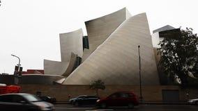 Uma opinião Walt Disney Concert Hall em Los Angeles vídeos de arquivo