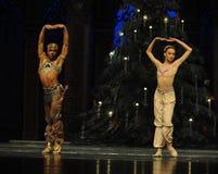 Uma oração sob o café da música de árvore-Arábia do Natal - a quebra-nozes do bailado Imagens de Stock