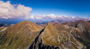Uma paisagem bonita da montanha do verão em Tatry imagem de stock