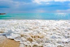 Uma paisagem bonita do mar Fotografia de Stock