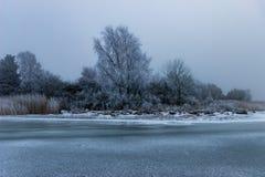 Uma paisagem congelada Foto de Stock Royalty Free