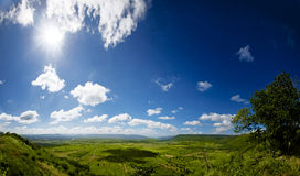 Uma paisagem da montanha Fotos de Stock Royalty Free
