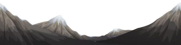Uma paisagem da pedra da montagem ilustração stock