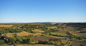 Uma paisagem de Tuscania foto de stock