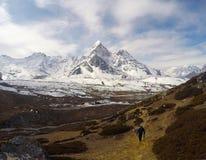 Uma paisagem distante do pico e da montanha Fotografia de Stock Royalty Free