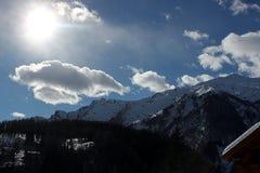 Uma paisagem do inverno foto de stock