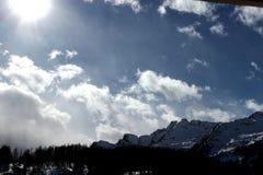 Uma paisagem do inverno fotos de stock