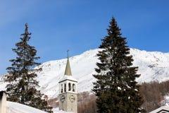 Uma paisagem do inverno imagem de stock royalty free