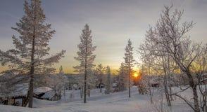 Uma paisagem do inverno Fotos de Stock Royalty Free
