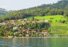 Uma paisagem pitoresca do lago Untersee Foto de Stock