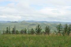 Uma paisagem típica em Mongólia do norte fotografia de stock