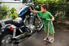 Uma paixão para motocicletas Imagem de Stock Royalty Free