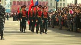 Uma parada das forças armadas vídeos de arquivo