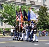 Uma parada de 2011 Memorial Day. Imagem de Stock