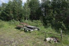 Uma parada do resto em Finlandia Foto de Stock