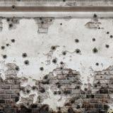 Uma parede completamente dos buracos de bala ilustração stock