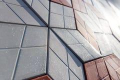 Uma parede de telhas decorativas Imagem de Stock