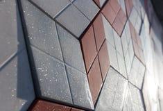 Uma parede de telhas decorativas Foto de Stock Royalty Free