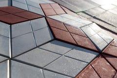 Uma parede de telhas decorativas Foto de Stock
