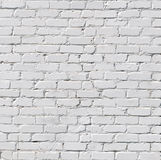 Uma parede de tijolo branca Foto de Stock Royalty Free