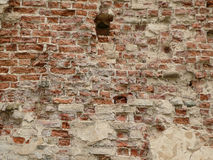 Uma parede de tijolo do fundo Fotografia de Stock