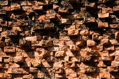 Uma parede de tijolo velha para texturas do fundo foto de stock royalty free