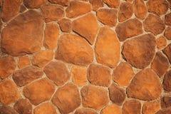 Uma parede de vermelho, nem sequer pedra, pera-dada forma imagens de stock royalty free