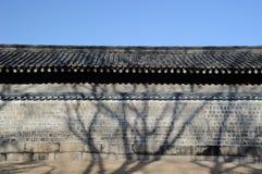 Uma parede em Jongmyo Fotografia de Stock