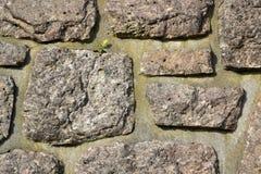 Uma parede feita da pedra Fotografia de Stock