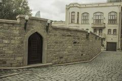 Uma parede na cidade interna, Baku, Azerbaijão Foto de Stock Royalty Free