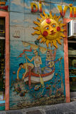 Uma parede surpreendente da rua, Vietri imagens de stock royalty free