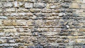 Uma parede velha de um castelo Fotos de Stock Royalty Free