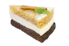 Uma parte de bolo de maçã Imagens de Stock Royalty Free