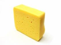 Uma parte de queijo suíço imagem de stock